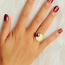 זול סטים של תכשיטים-בגדי ריקוד נשים טבעת 1pc זהב דמוי פנינה סגסוגת מסוגנן עיצוב מיוחד אופנתי מתנה יומי תכשיטים גיאומטרי מגניב