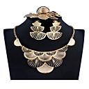 זול סט תכשיטים-בגדי ריקוד נשים כסף זהב סטי תכשיטי כלה תגובת שרשרת בוטני וינטאג' עגילים תכשיטים זהב / כסף עבור חתונה ארוסים מתנה 1set