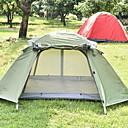 hesapli Çadır ve Barınaklar-2 kişi Çadır Aile Kamp Çadırı Açık hava Hafif Rüzgar Geçirmez Uv dayanıklı Çift Kat Direk Kamp çadırı 2000-3000 mm için Balıkçılık Tırmanma Kamp / Yürüyüş / Mağaracılık Terylene 21040+135+10*105 cm