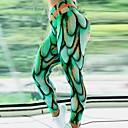 halpa Kuntoilu-, juoksu- ja joogavaatetus-Naisten Joogahousut Smaragdinvihreä Urheilu Geometria Alaosat Fitness Activewear Hengittävä Nopea kuivuminen Hikeä siirtävä Butt Lift Elastinen Hoikka