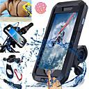 halpa Telineet ja jalustat-Polkupyörän puhelinteline Kosketusnäyttö Vedenkestävä Vaativa käyttö varten Uinti Sukellus Moottoripyöräily ABS iPhone X iPhone 8 8 Plus iPhone 6 plus Pyöräily Musta