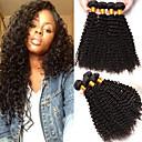 זול תוספות משיער אנושי-4 חבילות שיער ברזיאלי Kinky Curly שיער אנושי טווה שיער אדם 8-28 אִינְטשׁ שוזרת שיער אנושי תוספות שיער אדם / 8A / קינקי קרלי