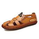 baratos Sandálias Masculinas-Homens Sapatos Confortáveis Pele Napa Outono / Primavera Verão Sandálias Preto / Castanho Claro / Castanho Escuro