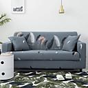 זול כיסויים-כיסוי ספה עם כיסויי ספה תערובת כותנה / דפוסי נוצות רומנטיות / רחיץ במכונה / כיסוי ספה להתנגדות להחליק