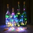 povoljno Božićni ukrasi-2m Savitljive LED trake 20 LED diode Toplo bijelo / Više boja Božićni vjenčani ukrasi / Voda za boce za čep Cork Copper Wire Baterije su pogonjene 1pc