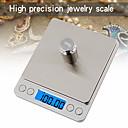 זול משקלות מדידה-500g / 0.01g Lcd-Digital מסך אוטומטי הנחה אלקטרוניים בקנה מידה המטבח דיגיטלי סולם תכשיטים בקנה מידה מיני כיס דיגיטלי עם 2 מגשים