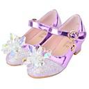 זול Kids' Flats-בנות נעליים לילדת הפרחים PU עקבים ילדים קטנים (4-7) סגול / ורוד קיץ