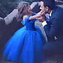 povoljno Movie & TV Theme Costumes-Princeza Cinderella Haljine Dječji Djevojčice Božić Halloween Karneval Festival / Praznik Organza Pamuk Dark Blue Karneval kostime Kristalna površina / Haljina / Haljina