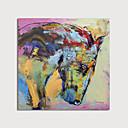 povoljno Slike sa životinjskim motivima-Hang oslikana uljanim bojama Ručno oslikana - Sažetak Životinje Moderna Uključi Unutarnji okvir