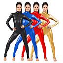 hesapli Seksi Kostümler-Zentai Kıyafetleri Kedikıyafeti Deri elbise Motosiklet Kızı Yetişkin Spandex Lateks Cosplay Kostümleri Cinsiyet Erkek Kadın's Siyah / Yeşil / Altın Solid Cadılar Bayramı / Yüksek Elastikiyet