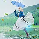 hesapli Anime Kostümleri-Esinlenen Menekşe Evergarden Menekşe Evergarden Anime Cosplay Kostümleri Japonca Cosplay Takımları Palto / Elbise / Eldivenler Uyumluluk Kadın's