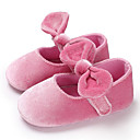 זול Kids' Flats-בנות צעדים ראשונים סוויד שטוחות תינוקות (0-9m) / פעוט (9m-4ys) אדום / ורוד / שקד אביב / קיץ