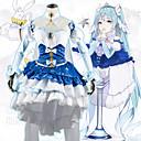 povoljno Anime kostimi-Inspirirana Vocaloid Snijeg Miku 2018 Anime Cosplay nošnje Japanski Cosplay Suits Suknja / Čarape / Šeširi Za Žene / Djevojčice / Wig