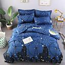 halpa Contemporary pussilakanoiksi-Vaalean sininen Geometrinen / Kukat / Kasvit Poly / Puuvilla Printed 1 KappaleBedding Sets