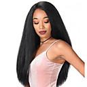 hesapli Sentetik Dantel Peruklar-Sentetik Peruklar Afro Kinky Stil Orta kısım Bonesiz Peruk Siyah Siyah Sentetik Saç 22 inç Kadın's Sexy Lady Siyah Peruk Uzun Doğal Peruk