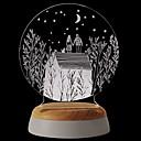olcso 3D éjszakai világítás-1db 3D éjszakai fény Meleg fehér USB Kreatív <=36 V
