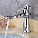 Недорогие Для умывальника-Ванная раковина кран - Широко распространенный Латунь Свободно стоящий Одной ручкой одно отверстиеBath Taps