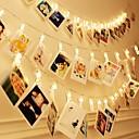 halpa LED-hehkulamput-brelong vedenpitävä led-merkkijono 3m 30 led-pidikkeet akkukäyttöinen keiju twinkle hääjuhla joulu kodinsisustus valot ripustamiseen valokuvien kortit taidetta