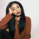 זול פיאות תחרה משיער אנושי-שיער אנושי חזית תחרה פאה חלק צד בסגנון שיער ברזיאלי Yaki Straight שחור פאה 130% 150% צפיפות שיער נשים בגדי ריקוד נשים ארוך פיאות תחרה משיער אנושי Clytie