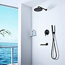 ราคาถูก ก๊อกฝักบัว-ก๊อกน้ำฝักบัว - ร่วมสมัย N / A Wall Installation Ceramic Valve Bath Shower Mixer Taps