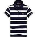 billige Sykkelundertøy og basisplagg-Skjortekrage EU / USA størrelse Polo Herre - Stripet Grunnleggende Lyseblå / Kortermet