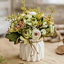 זול ברזים לחדר האמבטיה-פרחים מלאכותיים 1 ענף קלאסי ארופאי פסטורלי סגנון ורדים אדמוניות פרחים לשולחן
