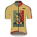hesapli Bisiklet Formaları-21Grams koz Erkek Kısa Kollu Bisiklet Forması - Sarı Bisiklet Forma Üstler Nefes Alabilir Hızlı Kuruma Yansıtıcı çizgili Spor Dalları %100 Polyester Dağ Bisikletçiliği Yol Bisikletçiliği Giyim