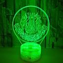 hesapli 3D Gece Işıkları-1pc 3D Gece Görüşü RGB USB Renk Değiştiren / USB Bağlantı Noktalı <5 V