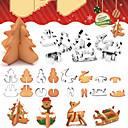 זול כלים לאפייה-מסיבת חג המולד חותך עוגיות 3d איש שלג כלים לקשט עוגת חותך פונדנט ביסקוויט עץ חג המולד