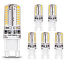 hesapli LED Çift-Pimli Işıklar-Zdm 6 adet g9 led ampuller 3 w 30 w halojen eşdeğer 250lm 64 leds olmayan aydınlatma için g9 ampuller ev aydınlatma ac220v