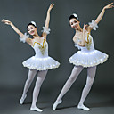 povoljno Stare svjetske nošnje-Balet LED Slojevito kratka baletska suknja Suknja s mjehurićima Pod suknjom Žene Djevojčice Dječji Til Kostim Obala / Srebrna / Plava Vintage Cosplay Party Halloween Dužina kratkih hlača Princeza