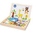 זול צעצועי קריאה-Muwanzi ציור צעצוע לוחות צעצוע לציור אבני בניין פאזלים מעץ מגנטית צעצוע חינוכי ריבוע מגנטי בגדי ריקוד ילדים מתנות