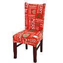 זול חפצים דקורטיביים-כיסוי כיסא חג המולד מכסה כיסויי מושב אוכל נשלף סיבי פוליאסטר מכסה מושבי אירועים במלון