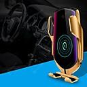 זול מטען לרכב-מהדק אוטומטי חכם צ 'י מטען אלחוטי לרכב 10 w טעינה מהירה 360 סיבוב חיישן אינפרא אדום אוויר vent הר מחזיק טלפון לרכב עבור iphone xr xs huawei p30 pro xiaomi