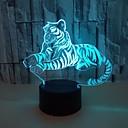 זול אורות 3D הלילה-אורות לילה 3d צבעוני נמר מגע צבעוני נורות led חזון