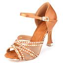 זול נעליים לטיניות-בגדי ריקוד נשים נעלי ריקוד סטן נעליים לטיניות פאייטים / פרטים מקריסטל / נצנוץ עקבים עקב רחב מותאם אישית שקד