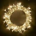 זול חוט נורות לד-BRELONG® 10מ' חוטי תאורה 100 נוריות SMD 0603 לבן חם / RGB / לבן Party / דקורטיבי / ניתן להרכבה 220-240 V / 110-120 V 1pc / IP65