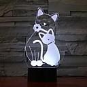 זול אורות 3D הלילה-1pc אור תלת ממדי USB לילדים / יצירתי / יום הולדת 5 V