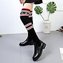 halpa Kuntoilu-, juoksu- ja joogavaatetus-Naisten Bootsit Tasapohja Pyöreä kärkinen PU Polvisaappaat Talvi Musta