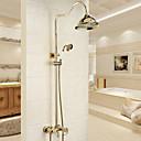 זול Soap Dispensers-ברז למקלחת - מסורתי / מודרני כרום מערכת למקלחת שסתום קרמי Bath Shower Mixer Taps / Brass / שני חורי ידית אחת