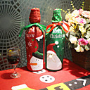 povoljno Pribor za piće-kreativni izvezen staric snowman božićno vinsko poklon vrećica šljokica set boca šampanjca