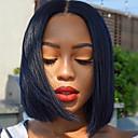 povoljno Perike s ljudskom kosom-Ljudska kosa 4x13 Zatvaranje Perika Bob frizura Kratak Bob Duboko udaljavanje stil Brazilska kosa Prirodno ravno Natural Perika 130% Gustoća kose s dječjom kosom Prirodna linija za kosu Afro-američka