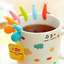 povoljno Pribor za piće-slatka boja bombona 6 kom / set silikona oblika puža za šalicu držač čajne vrećice čaja