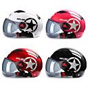 זול קסדות ומסכות-קסדת אופנוע קטנוע אופניים פנים פתוחות חצי כובע בייסבול כובע קשיח נגד בטיחות uv
