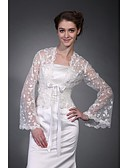 cheap Wedding Dresses-Half Sleeve Polyester Party / Evening Women's Wrap With Embroidery Coats / Jackets
