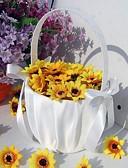 """halpa Häähunnut-Flower Basket Puu Satiini 3 1/2"""" (9 cm) Akryyli Ruseteilla Rusetit"""