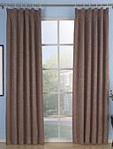 hesapli Gelin Şalları-Ahşap Korniş Kısmı Kopça Deliği Üstü Tab Top Çift Kaplamalı İki Panel Pencere Tedavi Neoklasik, Kabartılmış Solid Oturma Odası Polyester