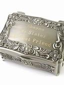 abordables Llaveros de Regalo-Caja Cajas de Joyería - Personalizado, Glamouroso, Vintage, De Armar Plateado 9 cm 6 cm 4 cm / Boda / Aniversario / Regalo / Enamorado