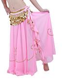 hesapli Göbek Dansı Giysileri-Göbek Dansı Etek Kadın's Performans Şifon Boncuklama Düşük Etek