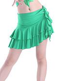 hesapli Caz Dansı Giysileri-Latin Dansı Etek Kadın's Eğitim Viskoz Dalgalı Doğal